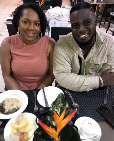 2019 Ghana visit first breakfast together